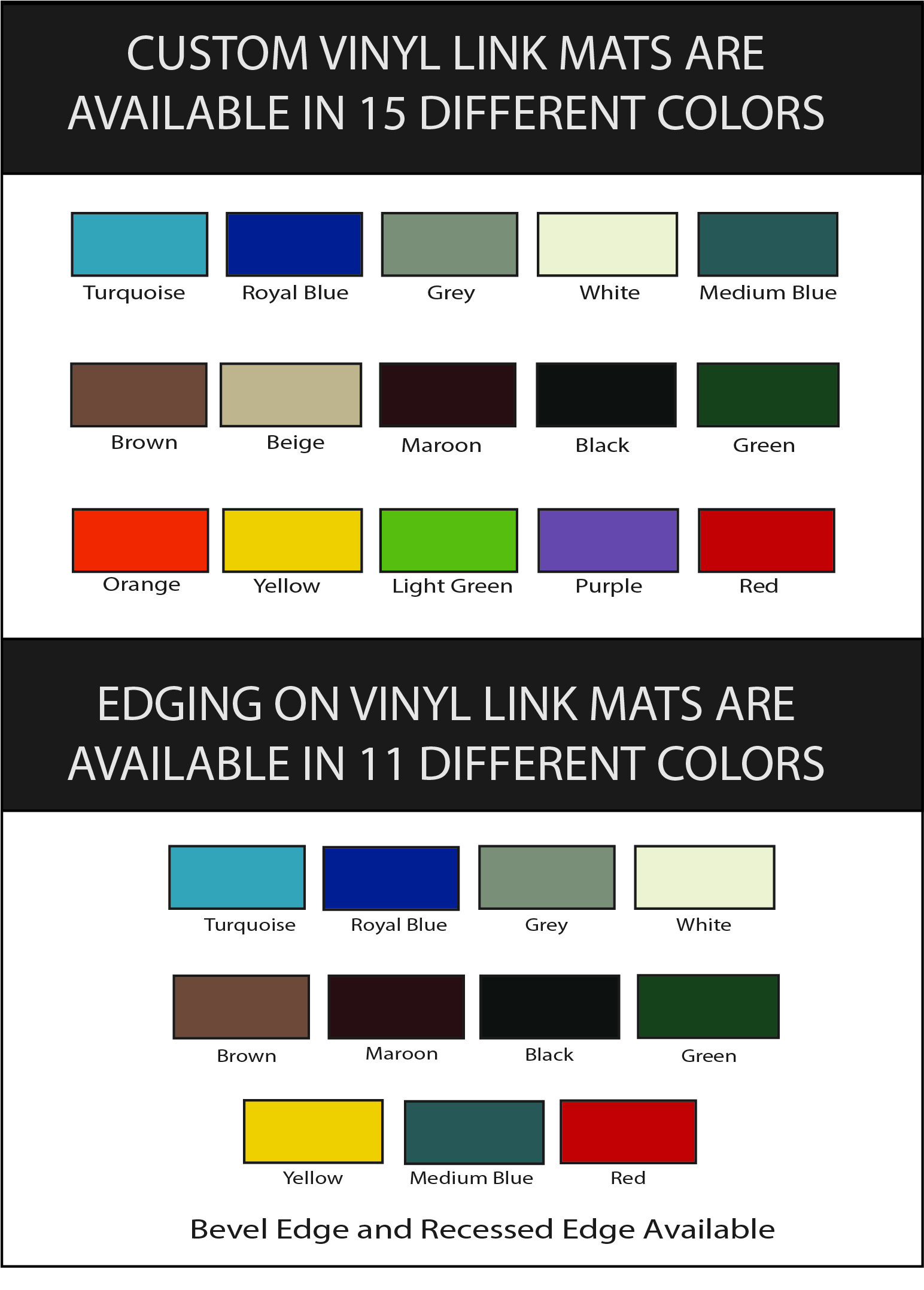 Vinyl Link Color Selector For Vinyl Link Mat
